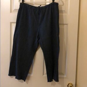 J Jill two pair of cropped pants/capris